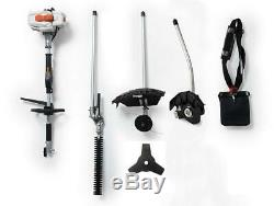 26CC 2 Cycle 4 in 1 Multi Tool with Grass Trimmer Attachment, Hedge Trimmer