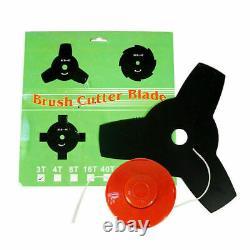 2 in 1 52cc Petrol Hedge Grass Trimmer Pruner Strimmer Brush Cutter Outdoor Tool