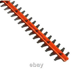 40V MAX Li Ion Cordless Hedge Trimmer 24 in Dual Action Blade Garden Shear Tool