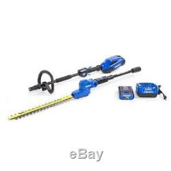 40 Volt Pole Hedge Trimmer Tool Kit Battery Charger Included 20 inch Blade Tool