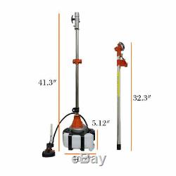 4 in 1 52cc Petrol Hedge Trimmer Chainsaw Brush Cutter Pole Saw Outdoor Tools US