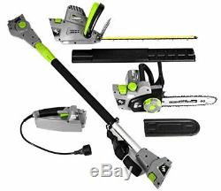 4-in-1 Multi-Tool Pole & Handheld Hedge Trimmer/Pole & Handheld Chain Saw