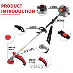 52cc 2-Stroke 3 in 1 Gasoline Garden Hedge Grass Trimmer Chainsaw Hedge Tool Set