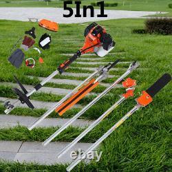 5In1 Heavy Duty Multifunction Petrol Trimmer Grass Brush Bush Tree Outdoor Tool