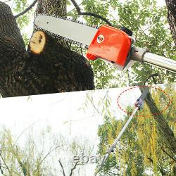 5 In 1 52cc Petrol Hedge Trimmer Chainsaw Brush Cutter Pole Saw Outdoor Tools US