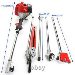 5 in 1 52cc Petrol Hedge Trimmer Chainsaw Brush Cutter Pole Saw Outdoor Tools u8