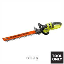 Cordless Electric Hedge Trimmer Outdoor Garden Bushes Grass 22 in Ryobi Tool