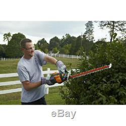 Cordless Hedge Trimmer Lithium Ion 24 56V Battery Tool Max Dual Action Blades