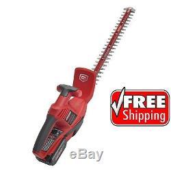 Craftsman 22 24V Max Li-ion Cordless Hedge Trimmer Prune Cut Bushes Branches