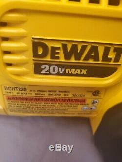 DEWALT DCHT820B 22 in. 20V MAX Lithium-Ion Cordless Hedge Trimmer (Tool Only)