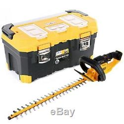 DeWalt DCM563 18V Hedge Trimmer Cutter 550mm With 22/56cm Tool Storage Box