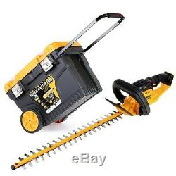 DeWalt DCM563 18V Hedge Trimmer Cutter 550mm With 24 Tool Box Chest on Wheel