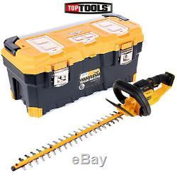 DeWalt DCM563 18V Hedge Trimmer Cutter 550mm With 26/66cm Tool Storage Box