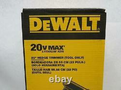 Dewalt DCHT820B 22 Hedge Trimmer (Tool Only)