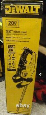 Dewalt DCHT820B 22 Hedge Trimmer (Tool Only) BRAND NEW
