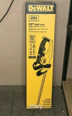Dewalt DCHT820B 22 in. 20V MAX Lithium-Ion Cordless Hedge Trimmer (Tool-Only)