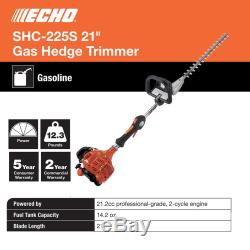 ECHO Hedge Trimmer 21 Inch Shaft Recoil Start Tool 21.2 Cc Gas 2 Stroke Cycle