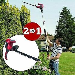 Eckman Hedge Trimmer 2-in-1 Long-Reach & Short-Reach Garden Power Tool