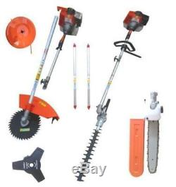 Garden Hedge Trimmer 6 in 1 Petrol Strimmer Chainsaw Brushcutter Multi Tool 52cc