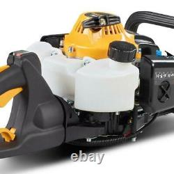 Gas Hedge Trimmer Dual-Blade Outdoor Tools Equipment 23-cu cm 2-cycle 22-in