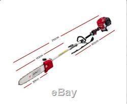 Gizantz 65CC Pole Chainsaw Hedge Trimmer Brush Cutter Whipper Snipper Multi Tool
