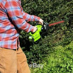 Greenworks 40V 24-Inch Cordless Hedge Trimmer 2.5Ah Battery & Quick Charger Tool