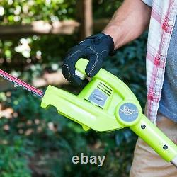 Greenworks 40V 8 in. Pole Saw and 20 in. Hedge Trimmer (Tool-Only), 1300402