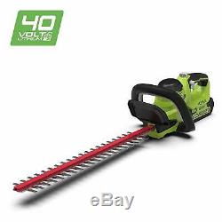 Greenworks 40V Cordless Brushed Hedge Trimmer 24 (61cm) Tool Only