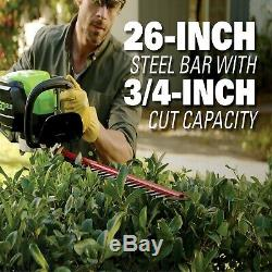 Greenworks Hedge Trimmer Lithium Ion Cordless Equipment 24 In 80V Bare Tool