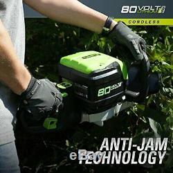 Greenworks PRO 26-Inch 80V Cordless Hedge Trimmer, (26 inchesTool Only)