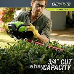 Greenworks PRO 80V 26 inch Cordless Hedge Trimmer, Tool Only, GHT80320