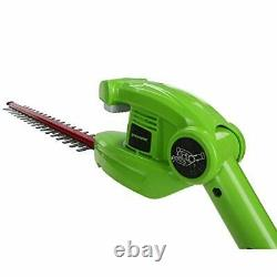 Greenworks Tools Battery-Powered Pole Mounted Pruner and Hedge Trimmer 2-in-1