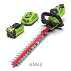 Greenworks Tools G40HT61K2 Cordless Hedge Trimmer