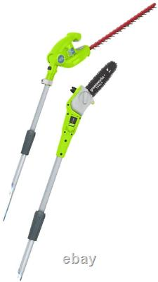 Greenworks Tools G40PSH Cordless Pruner and Telescopic Hedge Trimmer 2-in-1
