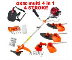 Gx50 brush cutter 4 in 1 lawn mower outdoor tool pruner hedge trimmer saw chain