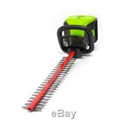 Hedge Trimmer Cordless Electric Dual Outdoor 60-Volt Max 24-in (Bare Tool Only)