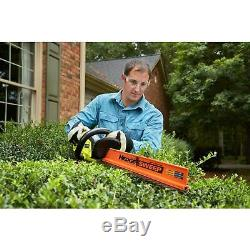 Hedge Trimmer Ryobi ONE 18V Lithium Cordless 22 inch Dual Action Blade TOOL ONLY