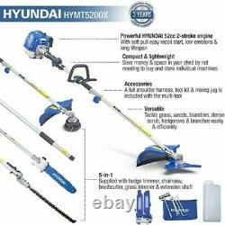 Hyundai HYMT5200X 52cc 5 in 1 Petrol Garden Multi Function Tool