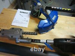 Kobalt 80V 16-in Cordless Trimmer Tool Only with Hedge Trimmer Attachment