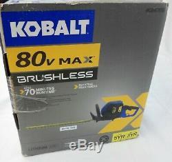 Kobalt 80V MAX Brushless Cordless Hedge Trimmer TOOL ONLY NEW