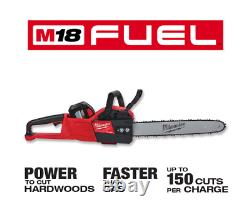 M18 FUEL 18V Cordless Lithium Ion Blower/ChainsawithHedge Trimmer Combo Kit 3 Tool
