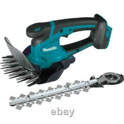 Makita 18V Lithium-Ion Cordless Grass Shear with Hedge Trimmer Blade Tool Only