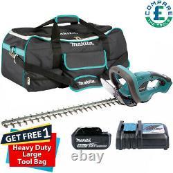 Makita DUH523RT 18V LXT Hedge Trimmer + 1 x 5.0Ah Battery & Free Large Tool Bag