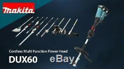 Makita DUX60Z Brushless 18v 36v Cordless Split Shaft Multi Tool Hedge Trimmer +