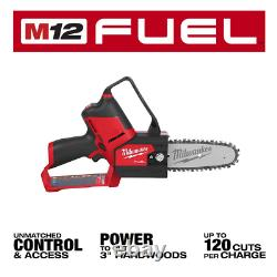 Milwaukee Cordless 6 Pruning Saw M12 FUEL HATCHET 12V Li-Ion Brushless Tool-Onl