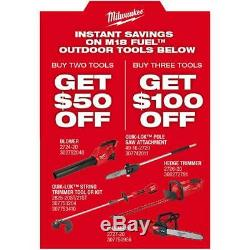 Milwaukee M18 FUEL 18-Volt Lithium-Ion Cordless Hedge Trimmer Tool-Only 2726-20