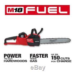 Milwaukee M18 FUEL Blower Chainsaw Hedge Trimmer Combo Kit 18V Cordless 3-Tool