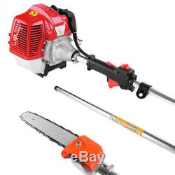 NEW 43CC Petrol Hedge Trimmer Chainsaw Brush Cutter Pole Saw Tools 11.5FT US