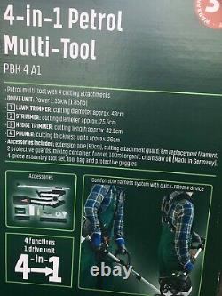Parkside 4 In 1 Petrol Multi-tool Lawn Trimmer Strimmer Hedge Trimmer Pruner