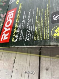 RYOBI Cordless Hedge Trimmer 24 in. 40V Lithium-Ion Rotating-Handle Tool Only-NEW
